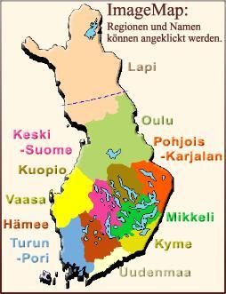 Finnland Karte Regionen.Skandinavien Reiseinformationen Von Sandra Und Bernd