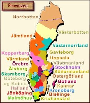 Schweden Karte Regionen.Schweden Karte Provinzen Hanzeontwerpfabriek