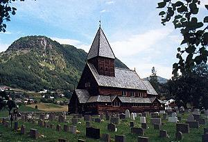Tagesbild: Stabkirche Röldal - Norwegen